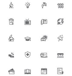Paying bills icon set vector image