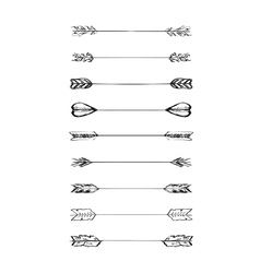 Retro scribble hand-drawn dividers set vector image vector image