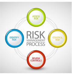 Risk management process diagram vector image