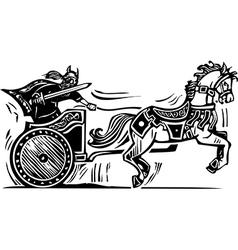 Viking Chariot vector image
