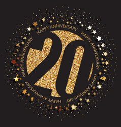 20th birthday logo vector