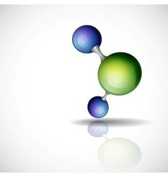 3d Molecule Background vector image