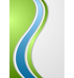 Abstract bright corporate waves background vector