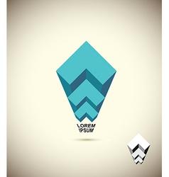 Abstract logo vista 3d business icon the concept vector