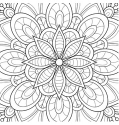 Adult coloring bookpage a floral abstract vector