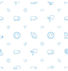 africa icons pattern seamless white background vector image