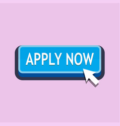 Apply now button vector