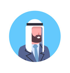 arabic man profile avatar icon arab businessman vector image