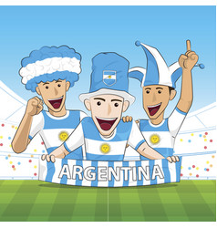 Argentina sport fan vector