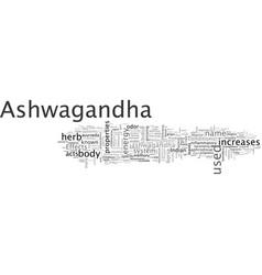 Ashwagandha indian ginseng vector