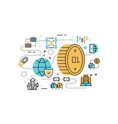 bitcoin and finance vector image