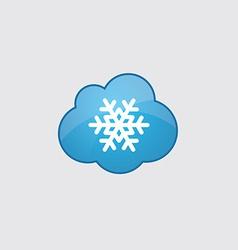 Blue snowflake icon vector