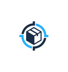 box target logo icon design vector image