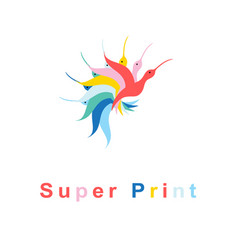 bright super sign multicolored beautiful vector image