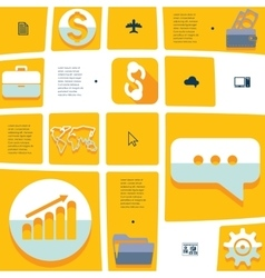 business flat infographic vector image