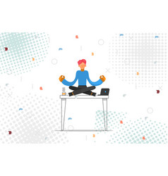 business man relax on table vector image