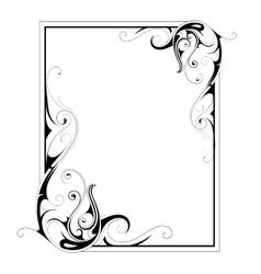 Calligraphic retro frame vector image