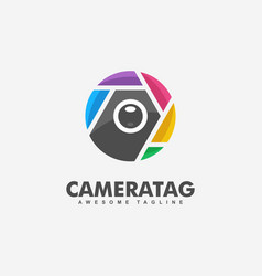 camera tag concept design template vector image
