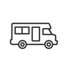 campervan line icon images vector image