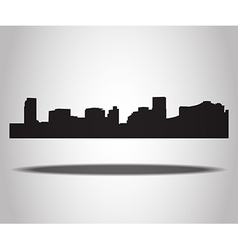 cities silhouettes on white background vector image