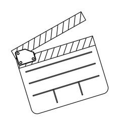 Clapper board film icon vector