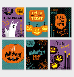 collection halloween banner templates vector image