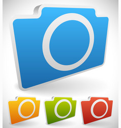 colorful photo camera icons vector image