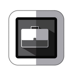 Contour bag case icon vector