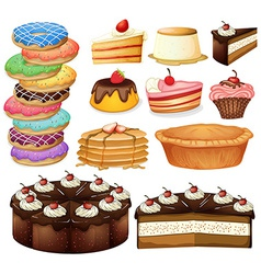 Desserts vector image