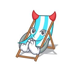 Devil beach chair mascot cartoon vector