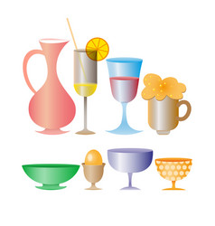different drinks and cocktails vector image