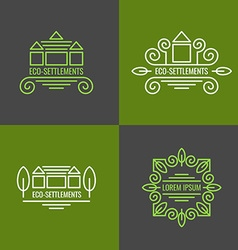Eco Settlement Logo Set vector