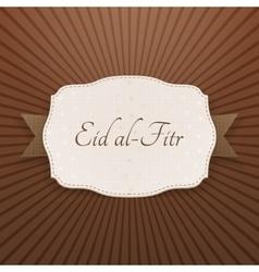 Eid al-fitr festive paper label vector