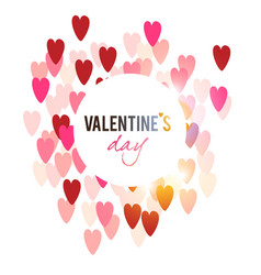 elegant background with hearts valentine s vector image