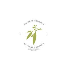 Eucalyptus oil logo template vector