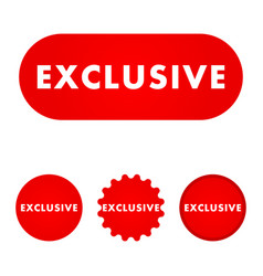 Exclusive red button vector