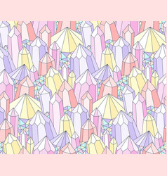 Fantasy crystals pattern vector