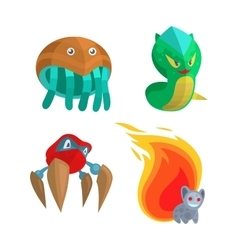 Fantasy monsters set vector image