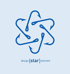 Fishing Hook star design element vector image