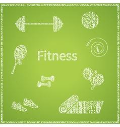Fitness board vector