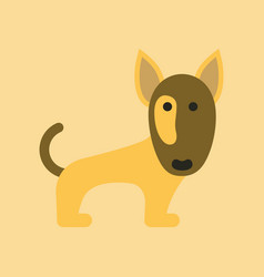 Flat icon on background pet dog pitbull vector
