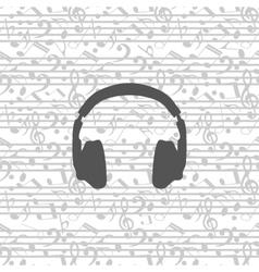 Headphones icon seamless vector