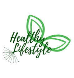healthy lifestyle label eco style and wellness vector image