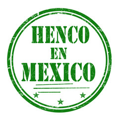 Henco en mexico made in mexico grunge rubber stamp vector