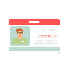 Homeopathist medical specialist badge vector