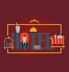 Hotel typography poster vector