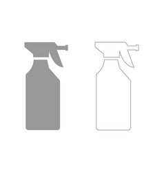 household chemicals set icon vector image