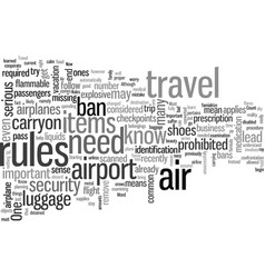 Important air travel rules you must know vector
