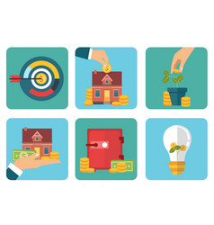 investment flat icon vector image