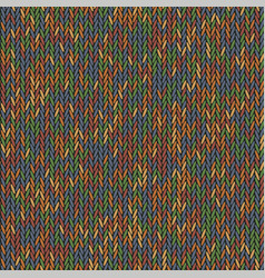 knit texture melange color seamless pattern vector image